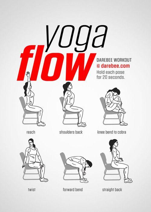 Serie D Exercices Tres Faciles 8 Exercice Physique Yoga Sur Chaise Exercices En Chaise Yoga Au Bureau Exercice Physique