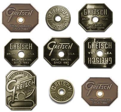 gretsch drum badges