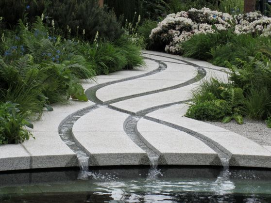 """This winding stylised stream was a thing of immense beauty"" The Homebase Cornish Memories Garden 