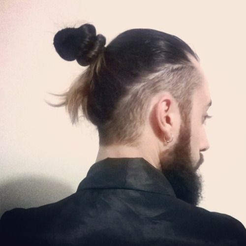 Samurai Undercut Hair Em 2019 Coque Samurai Masculino