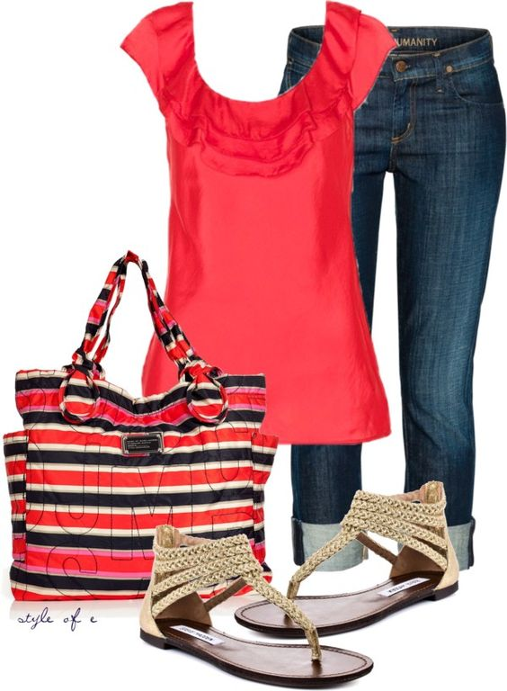 """""""Red Hot"""" by styleofe on Polyvore"""