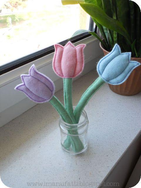 Diy Handmade Jak Uszyc Tulipany Diy Felt Diy Felt Toys Felt Ornaments