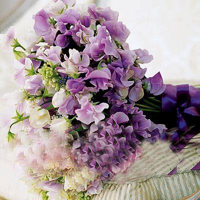 Romantic purple bouquets.