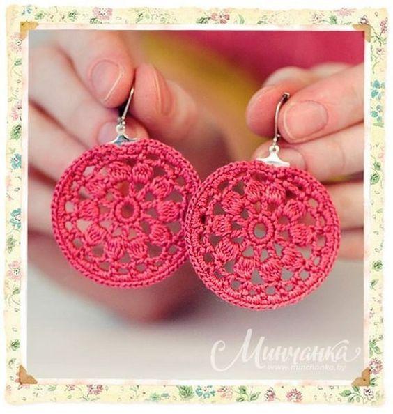 Boucles d'oreilles en dentelle , pas à pas en images ! - Crochet Passion