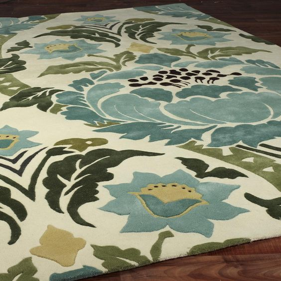 amy butler damask rug.... Love this