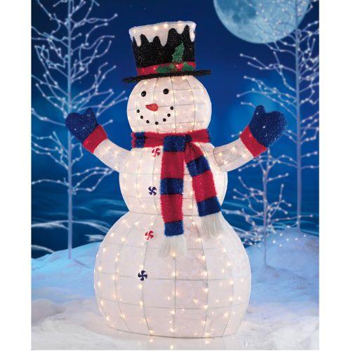 60 pre lit snowman merry christmas pinterest for Pre lit outdoor decorations