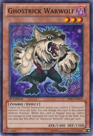 ghostrick warwolf prioen023 yugioh gamescards