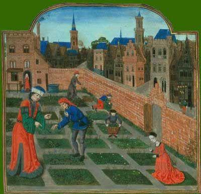Enluminure jardin medieval hda pinterest m di val for Jardin medieval