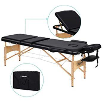 Naipo Table De Massage Pliante Professionnelle Cosmetique Portable Lit Table De Beaute Canape Pieds En Bois H En 2020 Table De Massage Table De Beaute Salon De Massage