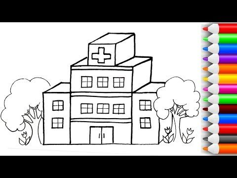 How To Draw And Color 3d Hospital And Ambulance Coloring Pages For Kids Play With Colors Youtube Coloring Pages Doodle Coloring Coloring Pages For Kids