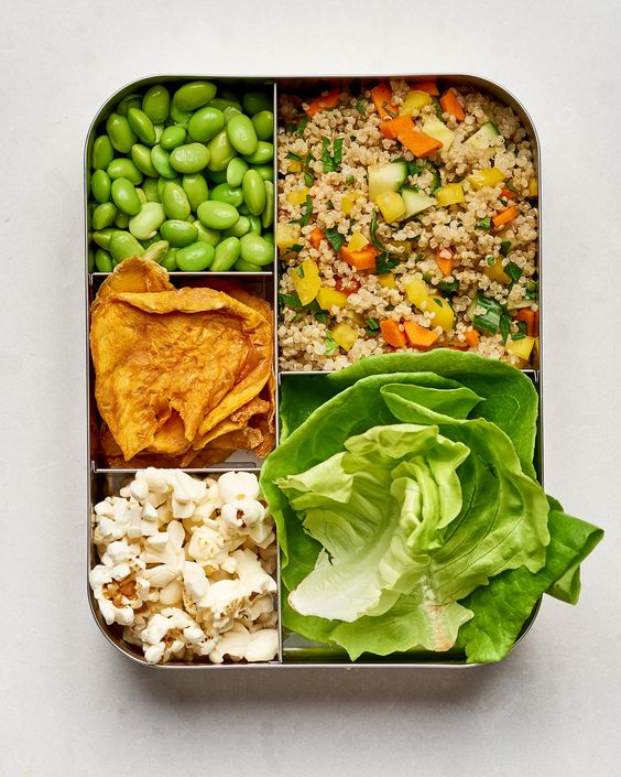 Lettuce wraps with quinoa..never thought of that!