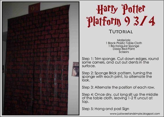 just Sweet and Simple: Harry Potter Platform 9 3/4 Tutorial