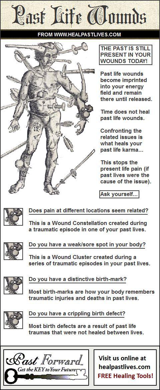 Genezing van vorige levenswonden
