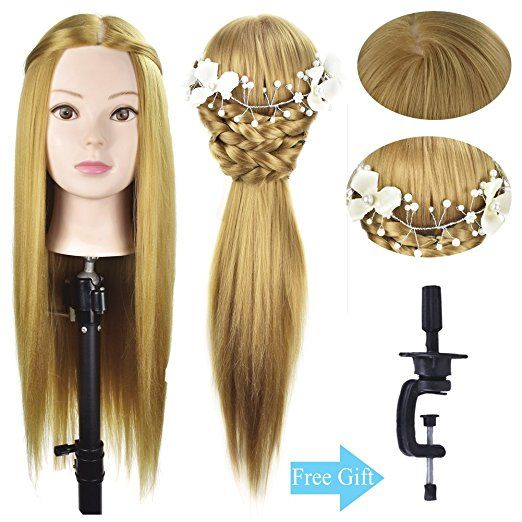 26 Quot Mannequin Head Hairdresser Training Head Manikin Cosmetology Hair Styling Head Manikin Doll Head Sy Hairdressing Training Hairdresser Mannequin Heads