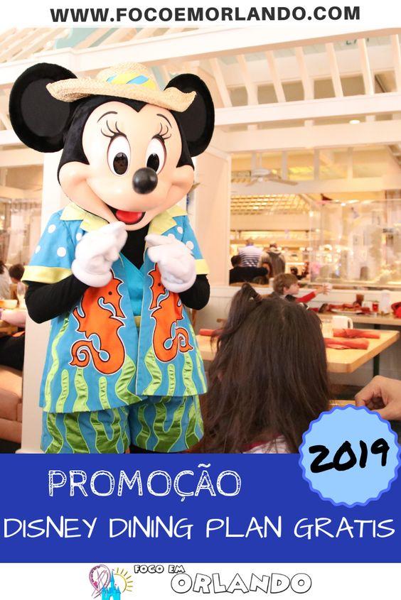Promoção do Disney Dining Plan pra 2019