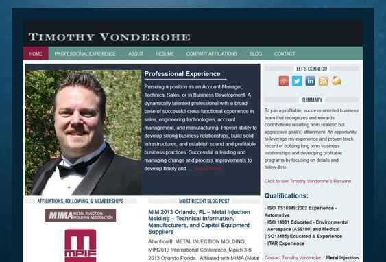 Professional Personal Resume Websites Online Resumes Online CV - web product manager sample resume