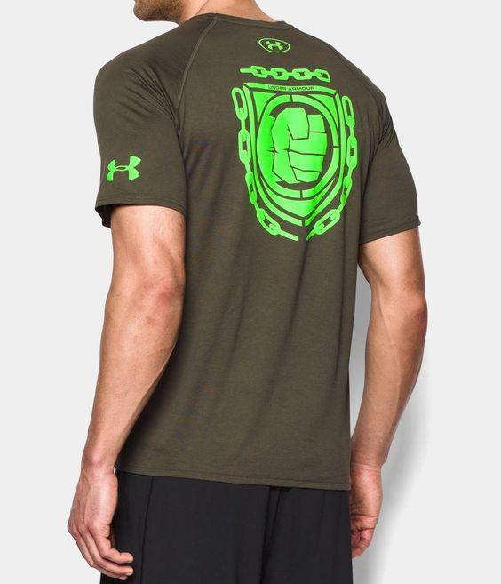 Men 39 s under armour alter ego avengers hulk t shirt for Hulk fishing shirts