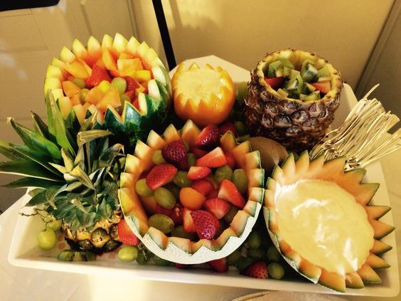 Fruit tray for Sarah's shower