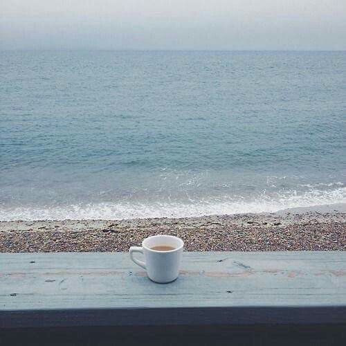 two of my favorites ~ coffee and saltwater...