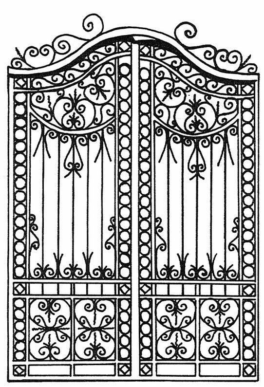 Rejas antiguas dibujo buscar con google puertas for Puertas grandes antiguas