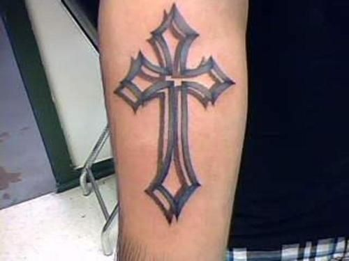 3d cross tattoos | Neat 3d Cross | Tattoos