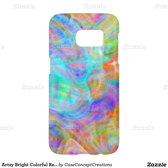 Artsy Bright Colorful Retro Wave Swirls Pattern Samsung Galaxy S7 Case.  Beautiful contemporary colorful artistic wave swirls pattern. Ornate, funky, modern and whimsical hipster design for the elegant artistic fashionista or artsy fashion diva, hip trendsetter, vintage retro art style or abstract graphic digital geometric motif designer. Unique, pretty, decorative, fashionable and trendy motif available on stylish, cute, fun and classy electronic device covers and accessories.