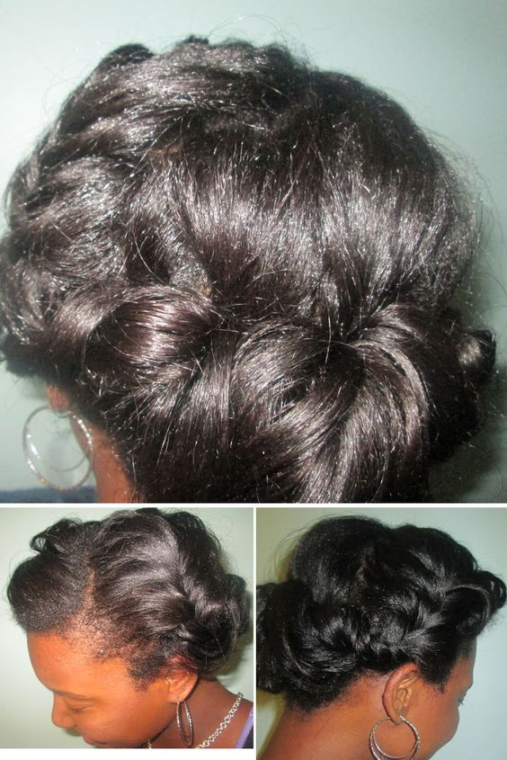 Cool Healthy Relaxed Hair Relaxed Hair And The Bun On Pinterest Hairstyles For Women Draintrainus