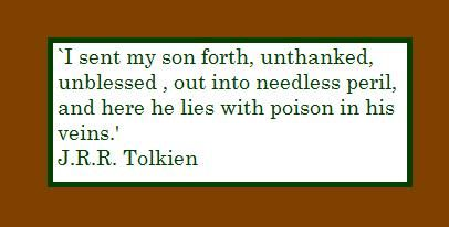 Denethor's relationship with his youngest son, Faramir, was never healthy. He always favoured his eldest son, Boromir, and became somewhat mad after being possessed by Sauron. In a way, this relates to fathers who lose control over their bodies and minds through alcohol and drugs. It's an awful addition to a family relationship, and in this quote you can truly hear Denethor's regret because of how this affected Faramir, and also how he'd always neglected his youngest son.