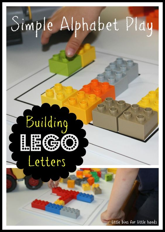 Lego and unifix alphabet building letters activity for Cover letter for lego