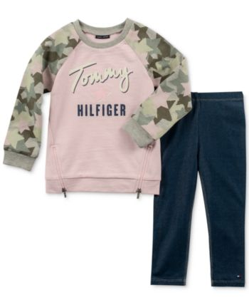 Tommy Hilfiger Tommy Floral Graphic Hoodie Sweat-Shirt B/éb/é Fille