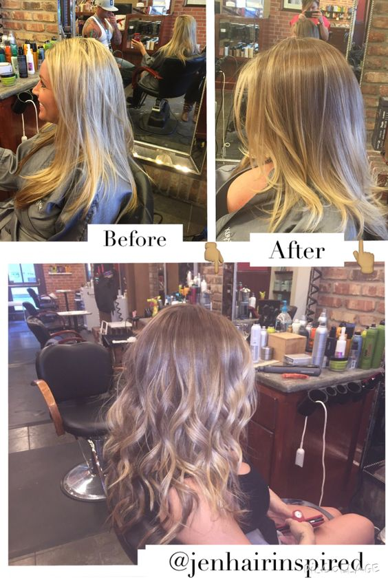 Darkened up for fall with a reverse balayage colormelt.