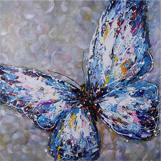 Handgemaltes lgem lde tier kunst malerei paletten messer for Vorlagen malerei