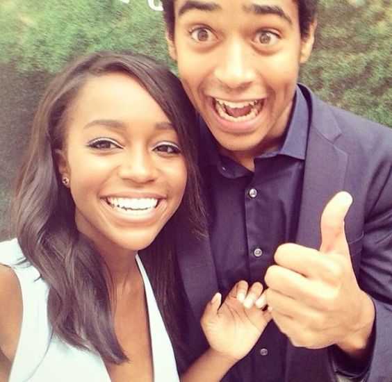 Alfred with Aja Naomi King