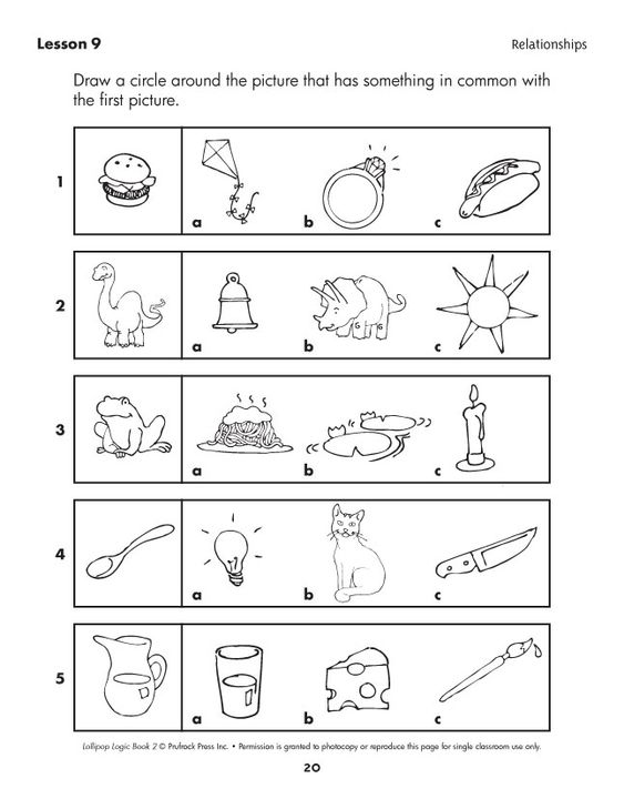 Lollipop Logic Critical Thinking Activities – Critical Thinking Worksheets for Kindergarten