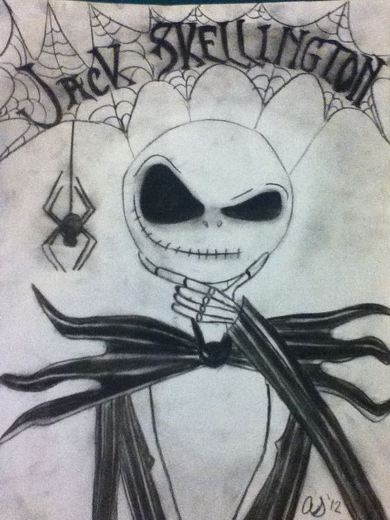 jack_skellington_charcoal_drawing_by_daisy1357911-d5eijma.jpg (720 ... Nightmare Before Christmas Pumpkin Patch Drawing