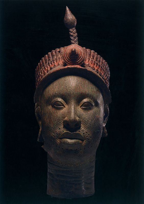 British Museum - the Kingdom of Ife: Sculptures from West Africa  ~Crowned Head, 12th-14th century  copper alloy