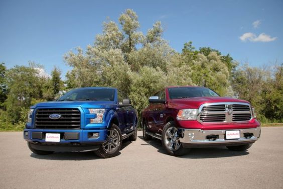 Comparation betwen 2015 Ford F-150 Truck 2.7L EcoBoost vs. 2015 Dodge Ram Truck 1500 EcoDiesel. The Ford F-150 Truck has 2.7L Turbo V6 engine with 325 hp and 375 lb-ft of torque. The F-150 is fully redesigned for the latest model year. While its exterior styling isn't substantially different from last year's model, it offers new …