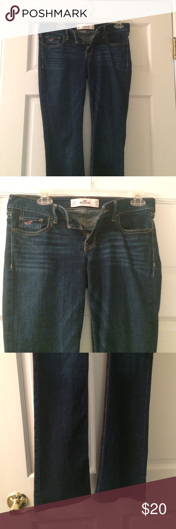 HOLLISTER Dark Wash Bootcut Jeans Gently warn, stretchy Hollister Jeans Boot Cut
