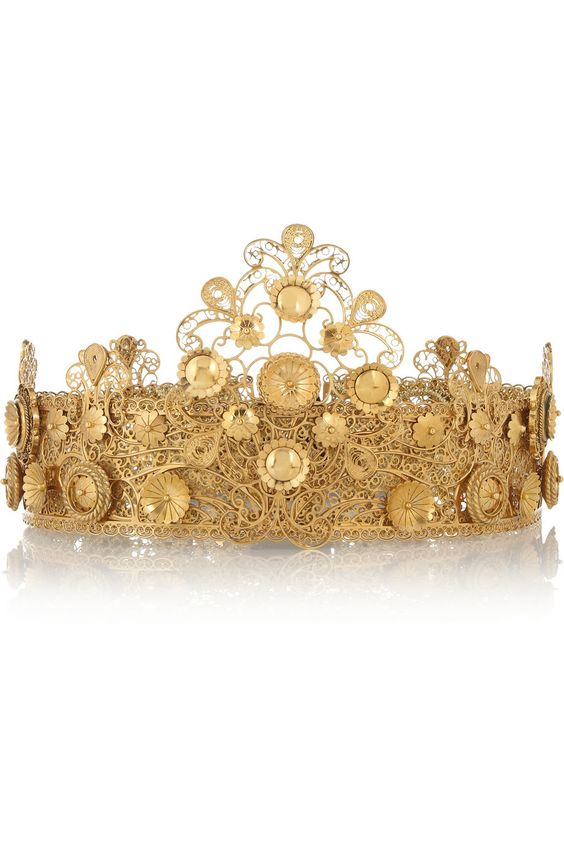 Dolce & Gabbana Gold-plated filigree crown