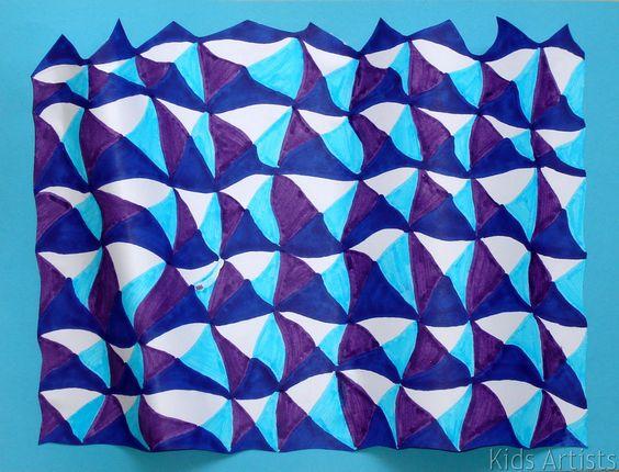 Kids Artists: tumbling blocks