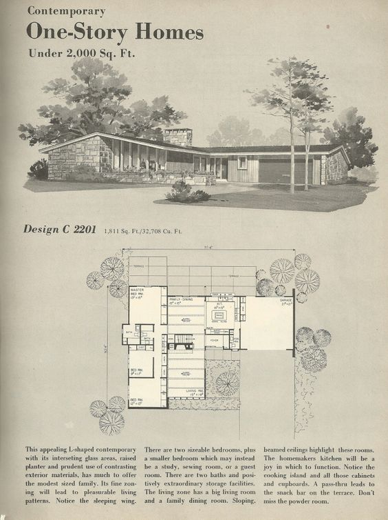 Vintage house plans 1960s homes mid century homes for - Retro home design ...