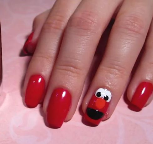 images of fun kid nails design elmo character nail art from wallpaper