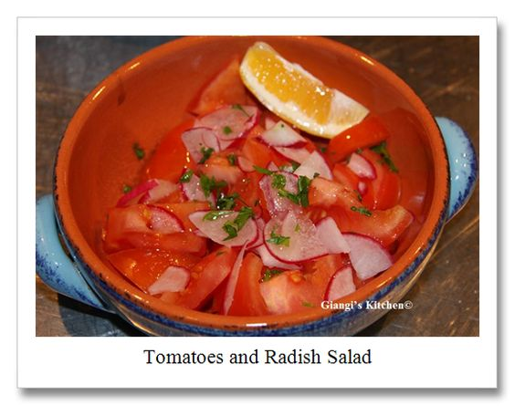 Tomatoes and Radish Salad from Giangi's Kitchen | Our Nightly Family Dinner