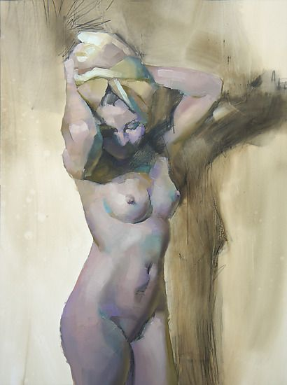 Nude Standing 1: Cathy Locke: Oil Painting - Artful Home