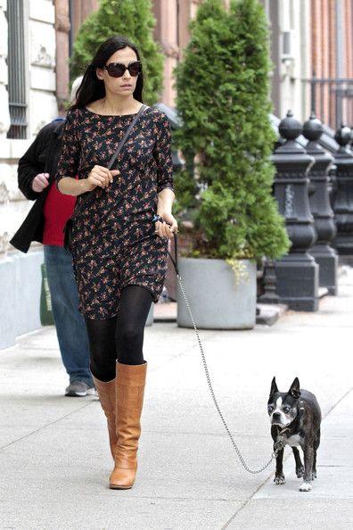 Famke Janssen's rocking the dog walk   http://www.steelemystyle.com/2012/06/08/f-is-for-famke-janssen/