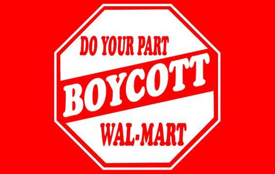 An activist consumer protest pressure campaign poster against Walmart [source: activistpost.com]