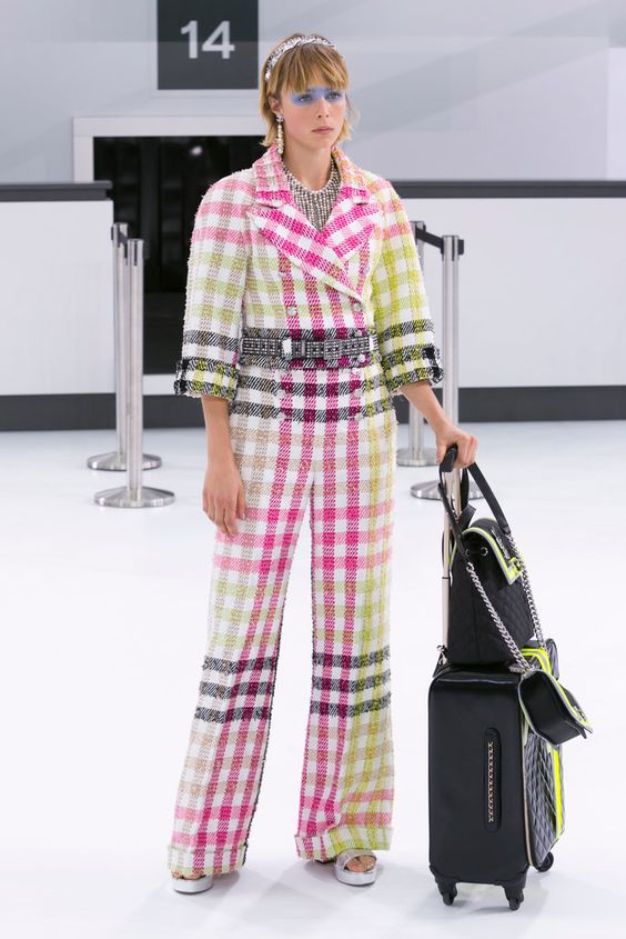 Karl Lagerfeld presents Chanel's spring collection.