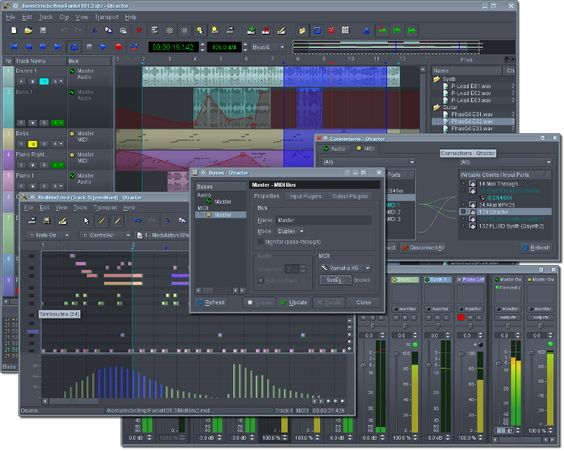 Qtractor An Audio Midi Multi Track Sequencer Music Making Software Audio Digital Audio Workstation