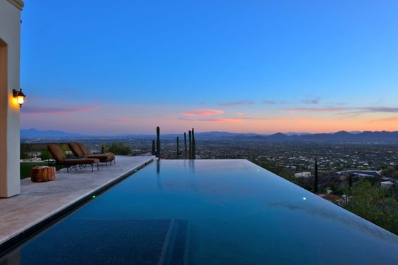 A rooftop terrace and pool completed by Pools by Design offer astonishing views. #luxeAZ