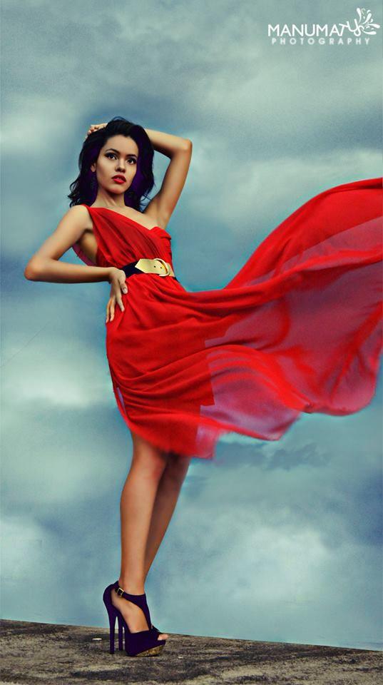 burning red dress